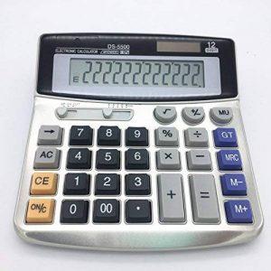 Calculatrice de bureau électronique avec 12chiffres - Grand écran, batterie ou alimentation solaire de la marque LianShi image 0 produit