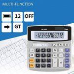 Calculatrice de bureau électronique avec 12chiffres - Grand écran, batterie ou alimentation solaire de la marque LianShi image 1 produit