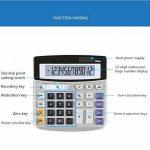 Calculatrice de bureau électronique avec 12chiffres - Grand écran, batterie ou alimentation solaire de la marque LianShi image 2 produit