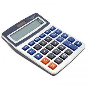 Calculatrice de bureau OFFIDIX Calculatrice de bureau, solaire et batterie Calculatrice électronique à double alimentation Calculatrice portable 12 chiffres à grand écran LCD (grande taille) de la marque OFFIDIX image 0 produit