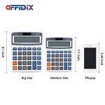 Calculatrice de bureau OFFIDIX Calculatrice de bureau, solaire et batterie Calculatrice électronique à double alimentation Calculatrice portable 12 chiffres à grand écran LCD (grande taille) de la marque OFFIDIX image 3 produit
