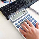 Calculatrice de bureau OFFIDIX Calculatrice de bureau, solaire et batterie Calculatrice électronique à double alimentation Calculatrice portable 12 chiffres à grand écran LCD (grande taille) de la marque OFFIDIX image 4 produit