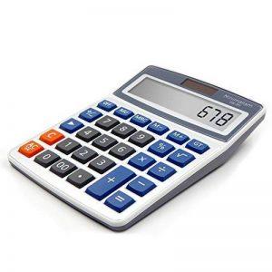 Calculatrice de bureau OFFIDIX Calculatrice de bureau, solaire et batterie Calculatrice électronique à double alimentation Calculatrice portable 12 chiffres à grand écran LCD (taille moyenne) de la marque OFFIDIX image 0 produit