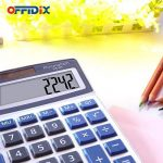 Calculatrice de bureau OFFIDIX Calculatrice de bureau, solaire et batterie Calculatrice électronique à double alimentation Calculatrice portable 12 chiffres à grand écran LCD (taille moyenne) de la marque OFFIDIX image 4 produit