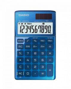 Calculatrice de poche avec étui type portefeuille–Bleu de la marque Casio image 0 produit