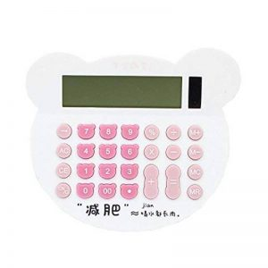 Calculatrice de tête de chat mignon de couleur grand écran durable-blanc de la marque Black Temptation image 0 produit