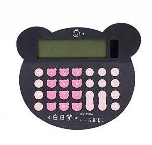 Calculatrice de tête de chat mignon dessin animé couleur durable grand écran-noir de la marque Black Temptation image 0 produit