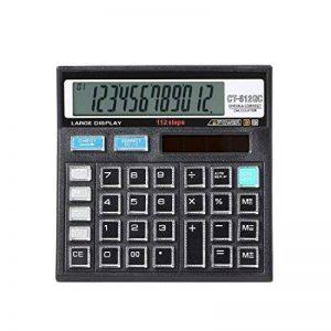 Calculatrice, Fonction Standard Calculateur de Bureau à 12 chiffres Alimentation solaire Calculatrices Noir de la marque Little ants image 0 produit
