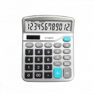 Calculatrice,FonctionStandardCalculateurdeBureauavec12chiffresAACalculatrices Argent de la marque Little ants image 0 produit