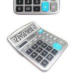 Calculatrice,FonctionStandardCalculateurdeBureauavec12chiffresAACalculatrices Argent de la marque Little ants image 1 produit