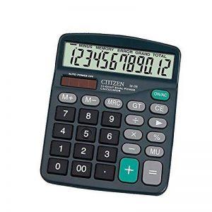 Calculatrice,FonctionStandardCalculateurdeBureauavec12chiffresAANoir de la marque Little-ants image 0 produit
