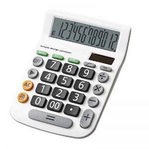 Calculatrice,FonctionStandardCalculateurdeBureauavec12chiffres ( pile bouton) Calculatrices blanc de la marque Little-ants image 0 produit