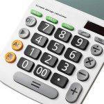 Calculatrice,FonctionStandardCalculateurdeBureauavec12chiffres ( pile bouton) Calculatrices blanc de la marque Little-ants image 4 produit