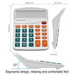 Calculatrice, Helect Fonction Standard Calculateur de Bureau (Blanc) de la marque Helect image 1 produit