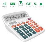 Calculatrice, Helect Fonction Standard Calculateur de Bureau (Blanc) de la marque Helect image 4 produit