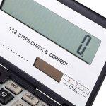 Calculatrice Pliante avec 12-Digits Grand Écran Solaire Et Batterie Dual Power Office Electronics Produit de la marque Calculator image 3 produit
