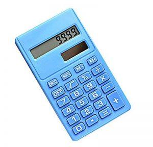 Calculatrice portative de mini carte solaire de puissance d'énergie bleue de la marque Black Temptation image 0 produit