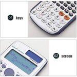 Calculatrice Scientifique, Compteur 417 Fonctions 2 Affichage De Ligne Bureau d'affaires D'école Secondaire Moyen D'étudiant de la marque Calculator image 3 produit