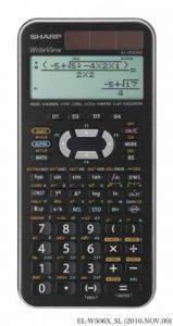 Calculatrice scientifique Sharp EL-W506 X-SL É cran WriteView 556fonctions Twin-Power Pour Collège Argenté métallique de la marque Sharp image 0 produit