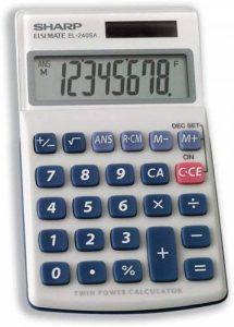 Calculatrice SHARP à batterie solaire 8chiffres 3touches mémoire 70x 116x 16mm Ref EL240SAB de la marque Sharp image 0 produit