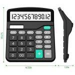 Calculatrice, Splaks 2 Pack Calculatrice de Bureau Fonctionnelle Standard Sola et Calculatrice Électronique avec Grand Affichage à 12 chiffres (1 Noir et 1 Argent) de la marque Splaks image 3 produit