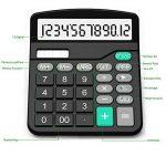 Calculatrice, Splaks 2 Pack Calculatrice de Bureau Fonctionnelle Standard Sola et Calculatrice Électronique avec Grand Affichage à 12 chiffres (1 Noir et 1 Argent) de la marque Splaks image 2 produit