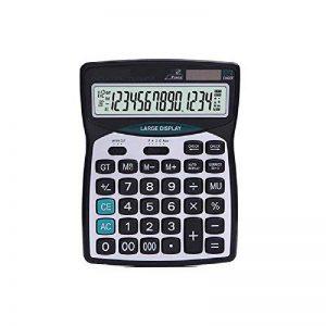 Calculatrices,Calculatrices de bureau /Grande calculatrice à 14 chiffres Solaire et Pile Calculatrice d'affaires Noir de la marque Little ants image 0 produit