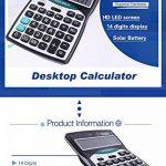 Calculatrices,Calculatrices de bureau /Grande calculatrice à 14 chiffres Solaire et Pile Calculatrice d'affaires Noir de la marque Little ants image 2 produit