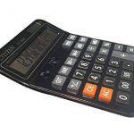 Calculatrices,Grande calculatrice/Calculatrices de bureau à 14 chiffres Solaire et Pile Calculatrice d'affaires Noir de la marque Little ants image 2 produit