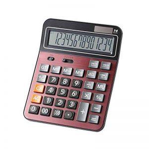Calculatrices,Grande calculatrice/Calculatrices de bureau à 14 chiffres Solaire et Pile Calculatrice d'affaires Vin rouge de la marque Little ants image 0 produit