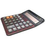 Calculatrices,Grande calculatrice/Calculatrices de bureau à 14 chiffres Solaire et Pile Calculatrice d'affaires Vin rouge de la marque Little ants image 1 produit