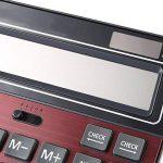 Calculatrices,Grande calculatrice/Calculatrices de bureau à 14 chiffres Solaire et Pile Calculatrice d'affaires Vin rouge de la marque Little ants image 3 produit
