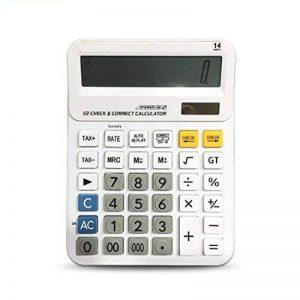 Calculatrices,Grande calculatrice/Calculatrices de bureau à 14 chiffres Solaire et Pile Calculatrice d'affaires avec Calcul taxe Calculateur de la marque Little ants image 0 produit