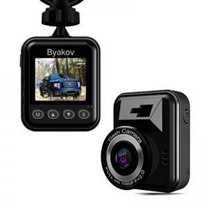 Caméra de voiture, Byakov Dashcam voiture enregistreur de conduite Full HD 1920x1080P 1.5 pouces Mini Dash-Cam pour voiture 170 degrés Angle voiture DashCam avec G capteur, WDR, détection de mouvement de la marque Byakov image 0 produit