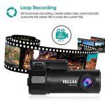 Caméra de Voiture WiFi Caméra Embarquée Full HD 1080P, VELLAA Mini Dashcam Avant Arrière Grand Angle 170°, Enregistrement en Boucle, DVR, WDR, G-Capteur Dashcam Voiture de la marque VELLAA image 3 produit