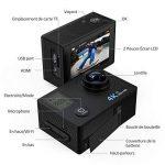 Caméra Sport 4K Wifi VicTsing Caméscope Sportive Étanche Ultra HD Caméra d'Action Sous-Marin 30m 16MP 170°Super Grand Angle avec 2 Pouces Écran LCD, 3 Batteries Rechargeables, 14 Kits d'Accessoires, Perche à Selfie Inclus pour Plongée, Moto, Vélo, VTT, Pa image 2 produit