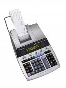 Canon MP1211-LTSC Calculatrice de bureau avec Imprimante à ruban encreur 12 chiffres Ecran rétro-éclairé 2 couleurs Fonction Taxe/Business Finition métal argenté de la marque Canon image 0 produit