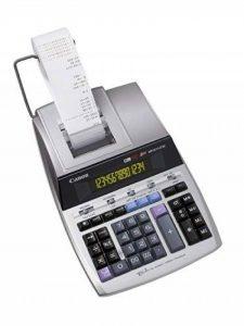 Canon MP1411-LTSC Calculatrice de bureau avec Imprimante à ruban encreur 14 chiffres Ecran rétro-éclairé 2 couleurs Fonction Taxe/Business Finition métal argenté de la marque Canon image 0 produit