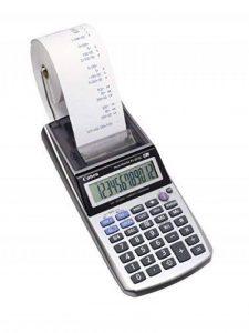 Canon P1-DTSC Calculatrice portable avec imprimante + Chargeur AD-11 12 chiffres Ecran LCD Calcul taxe / rentabilit é de la marque Canon image 0 produit