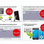 Carte de capture audio 3.5mm RCA vers USB 2.0Grabber capture enregistrement audio câble cable adaptateur convertisseur pour Mac OS & Windows Audio Analogique vers numérique/enregistreur cassette Cassette vers MP3Converte de la marque MIANBAOSHU image 2 produit