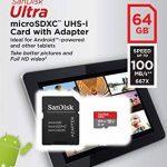 Carte Mémoire microSDXC SanDisk Ultra 64GB + Adaptateur SD. Vitesse de Lecture Allant jusqu'à 100MB/S, Classe 10, U1, homologuée A1 (Nouvelle Version) de la marque SanDisk image 4 produit