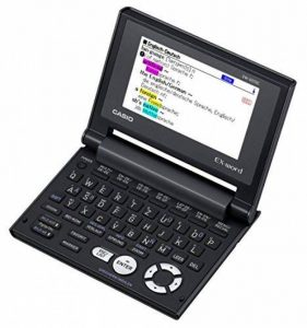 Casio EX Word EW G570C Dictionnaire électronique allemand, anglais, français, espagnol, latin de la marque Casio image 0 produit