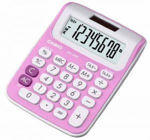 Casio MS 6 NC Calculatrice avec 8 chiffres Rose de la marque Casio image 0 produit