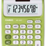 Casio MS 6 NC Calculatrice avec 8 chiffres Vert de la marque Casio image 1 produit