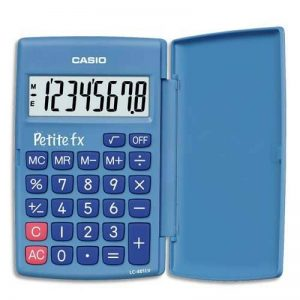 Casio Petite FX Calculatrice Scolaire 8 chiffres Bleu de la marque Casio image 0 produit