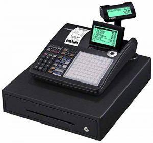 Casio-sE c450MB gDPdU-fIS-caisse enregistreuse softwarelizenz, avec fente pour carte sD et de résiliation de batterie et complet hotline inclus (français non garanti) noir de la marque Casio image 0 produit