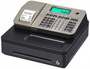 Casio SE-S100SB-GD-FIS Caisse enregistreuse enfichable GDPdU Avec licence pour logiciel d'utilisation, pile et carte SD, doré/noir de la marque Casio image 0 produit