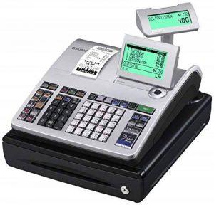 Casio SE-S400SB-SR-FIS Caisses enregistreuses enfichables GDPDU Avec licence pour logiciel d'utilisation, pile et carte SD, argenté/noir de la marque Casio image 0 produit