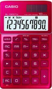 Casio SL-1000TW-RD-S-EH Calculatrice de Poche Rouge de la marque Casio image 0 produit
