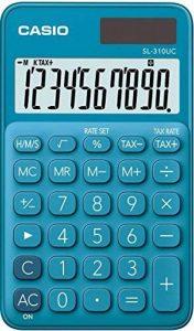 Casio SL 310UC BU Calculatrice de poche Bleu de la marque Casio image 0 produit